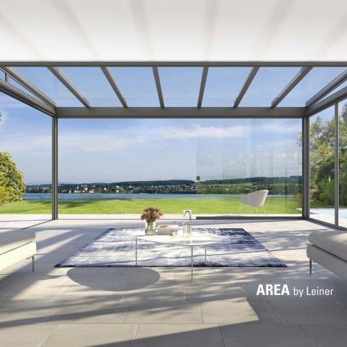 LEINER Glasdach AREA exclusiv mit Unterglasmarkise UG 200      (Foto: LEINER)