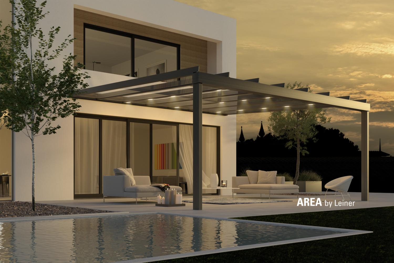 Terrassenglasdächer mit LED